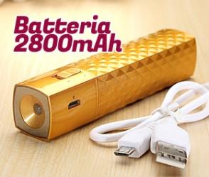 Batteria portatile Chic Quore da 2800mAH con led