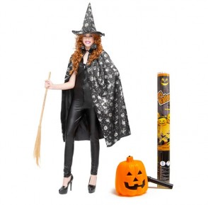 Halloween Pack Vestito Mantello e Cappello + Accessori