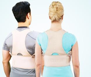 Fascia lombare posturale raddrizza spalle 12 Magneti