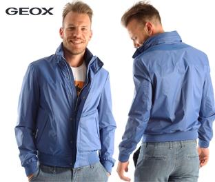 Geox giubotto uomo azzurro casual sport