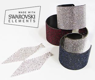 Luxury Set Bracciale e Orecchini Brillanti in Swarovski Elements