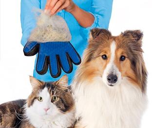 Smart touch pet guanto massaggiante elimina peli