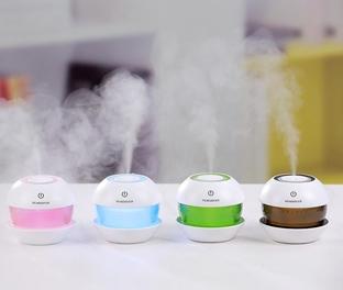 Diffusore con led e ultrasuoni di oli Essenziali con umidificatore a nebbia 150ml