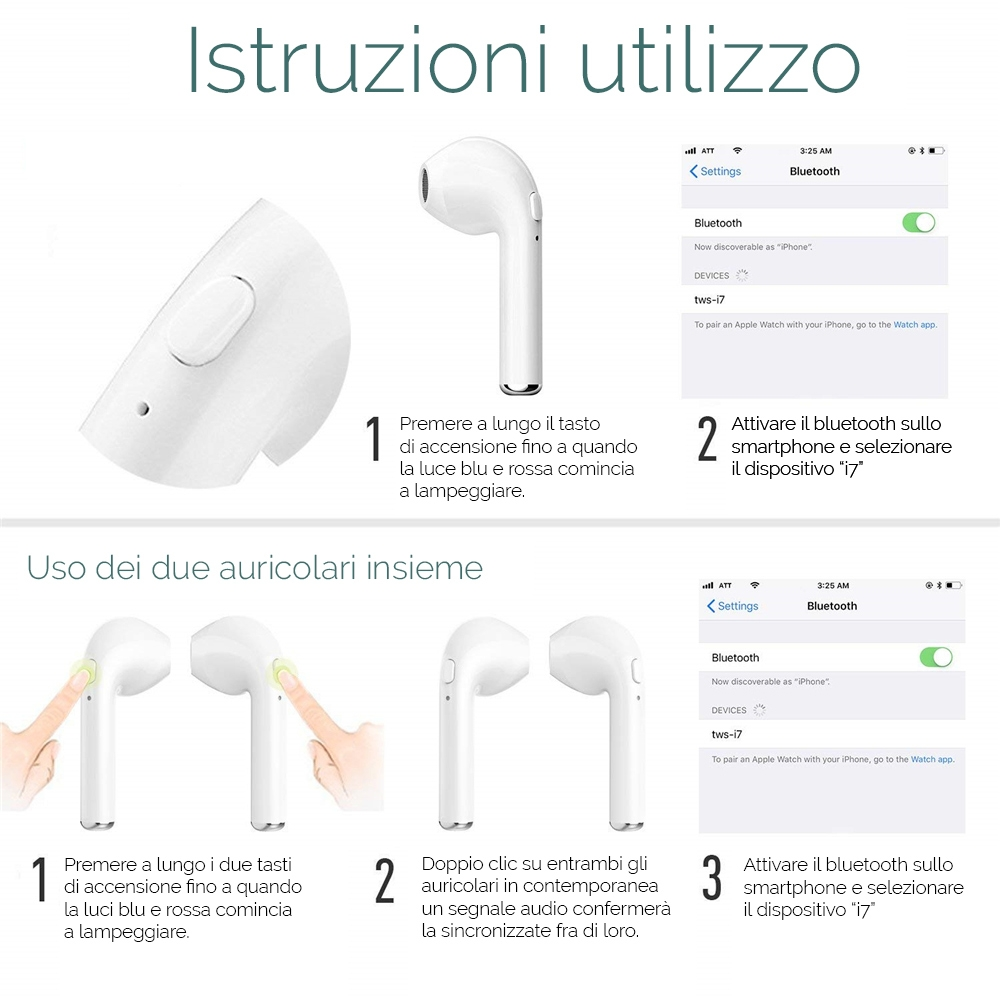 i7s auricolari wireless